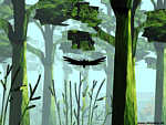 Flugsimulation-Wald